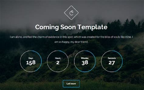 coming soon page template bootstrap landing pages wrapbootstrap