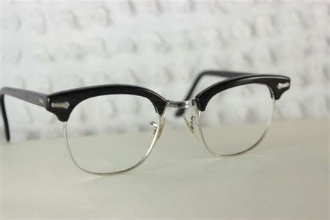 60s fashion glasses 60s mens glasses 1960 s browline eyeglasses black gray