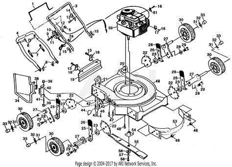 poulan ppsja mower parts diagram  mower assembly engine bs
