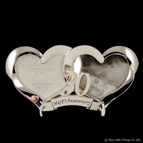 30th wedding anniversary photo frame 2 silver plated 30th wedding anniversary photo frame