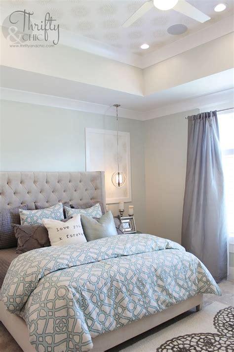image bedroom blue grey