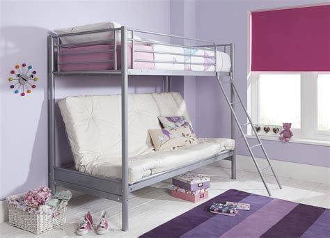 bunk bed with double sofa bed new mika single high sleeper with small double futon bunk