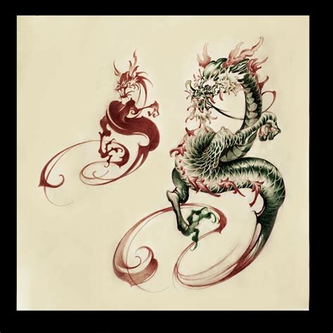 dragon tattoo 龍 tattoo design タトゥー 刺青 tattoo artwork