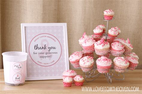 pink ribbon baking ideas  breast cancer awareness