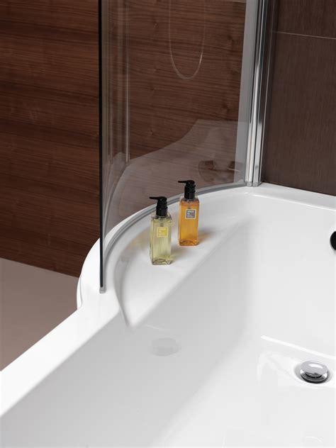 Half Bath Shower pura arco left hand 1500 x 850mm shower bath pbsblh15