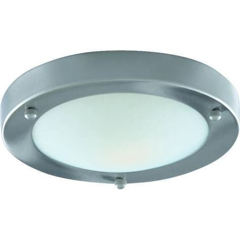 led flush fitting bathroom ceiling light opal glass with chrome ring searchlight lighting single light flush bathroom ceiling fitting with opal glass and satin