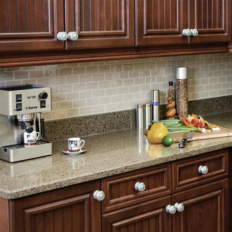 home depot kitchen tiles backsplash smart tiles 9 75 in x 10 96 in subway mosaic decorative wall tile in sand 12 sm1022 12