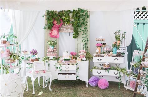 VINTAGE GARDEN THEMED BIRTHDAY   Oh It's Perfect