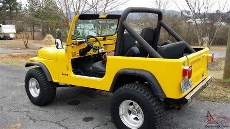 Jeep Cj7 Soft Doors 1984 Jeep Cj7 Soft Top With Soft Doors No Reserve