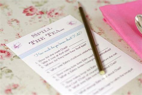 bridal shower ideas activities spill the tea bridal shower