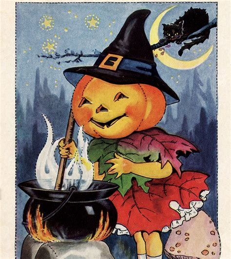 cute halloween pumpkin witch image  graphics fairy