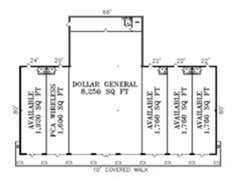 strip mall floor plans commercial building plans strip mall plans west main