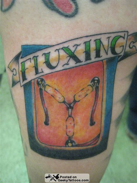 flux capacitor tattoo more of jon s geeky ink geeky tattoos