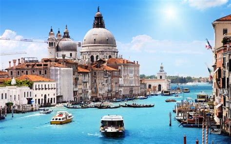 boat house wallpaper venice italy city canal building landscape boat