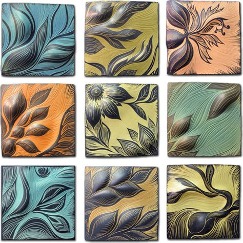 Handmade Ceramic Tile Artists - wall ideas design combination ceramic tile