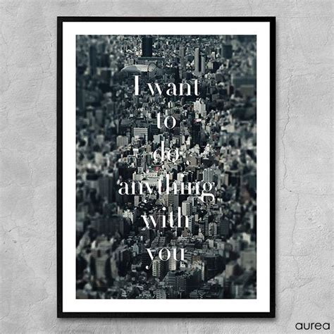 Plakat I Want You by Plakat I Want To Do Anything With You