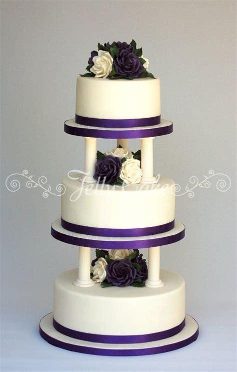 Wedding Cake Pillars by Pillar Wedding Cakes Purple And Pillars Wedding
