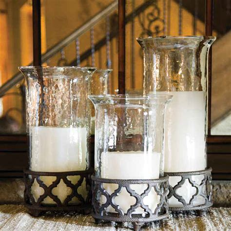 decorating hurricane candle holders for the gg collection ogee g grande cylinders 92601