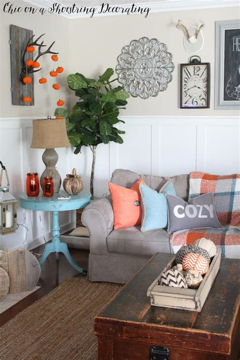 picture decorating chic on a shoestring decorating fall farmhouse decor to