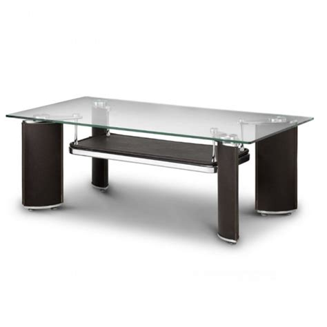 baltic glass coffee table in rich chocolate brown 19659