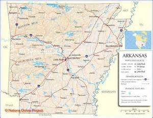 arkansas map arkansas state map arkansas road map map of