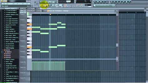Piano Roll fl studio shortcuts to quickly copy patterns in the piano