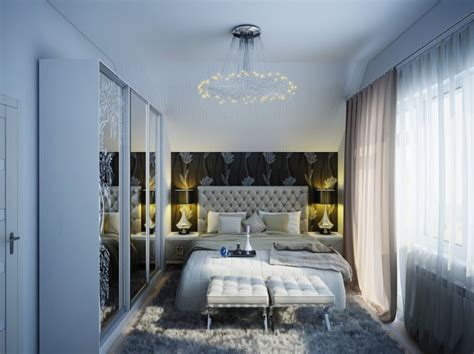 Contemporary Bedroom Chandeliers Contemporary White Bedroom Scheme Chandelier Cushion