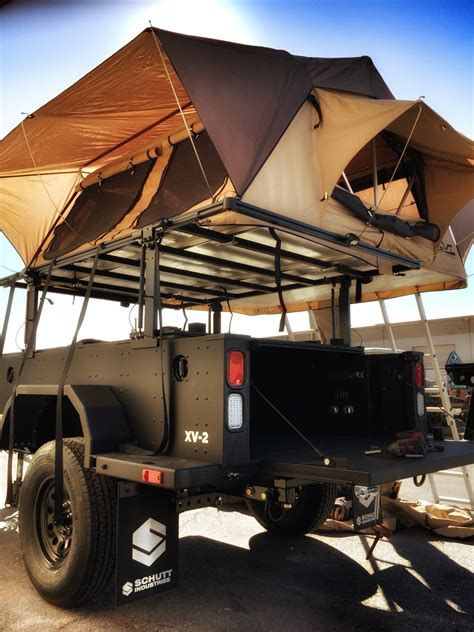 overland jeep tent xventure xv2 overland military grade trailer with a cvt