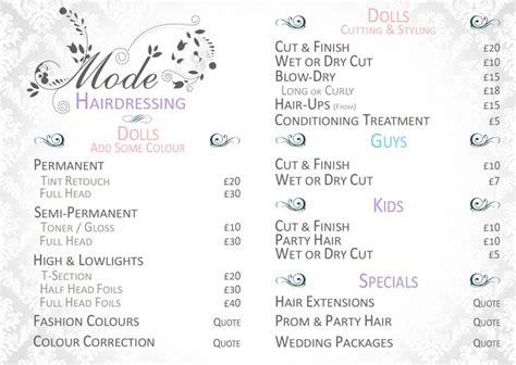 Rainbow Hair Dryer Price List 1000 ideas about hairdresser price list on