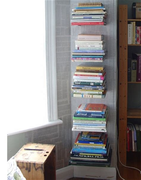 diy invisible floating bookshelves lifehacker australia
