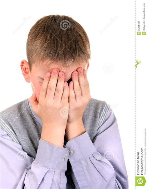 comfort the sorrowful sorrowful boy stock photography image 35291432