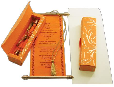 Wedding Invitation Card Roll by Unique Indian Wedding Invitation Cards Designs And Ideas