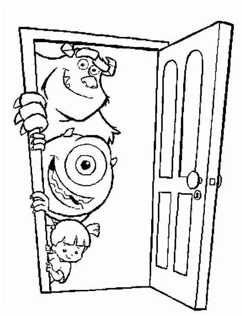 Free Monsters In Doors Coloring Pages Inc Color