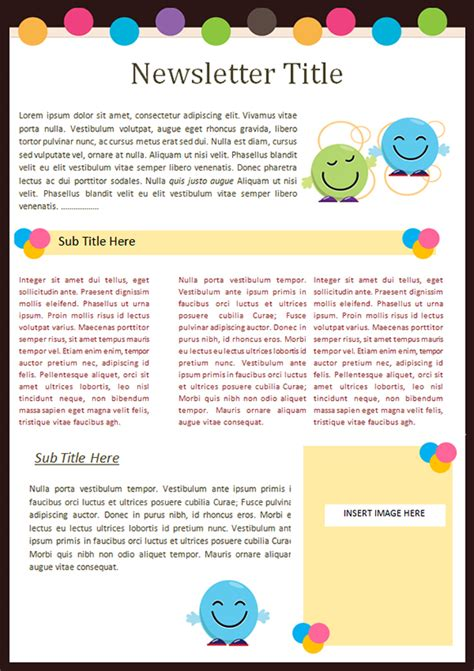 preschool newsletter templates kindergarten newsletter templates free formats excel word