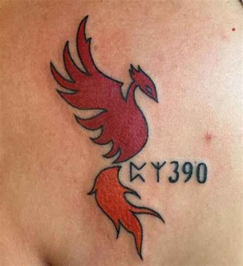 harry potter phoenix tattoo and sirius black prison room number tattoos