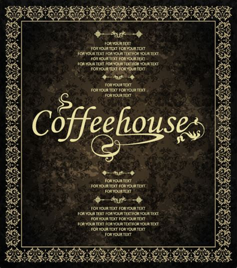 design menu vintage vintage golden coffee house menu design vector free vector