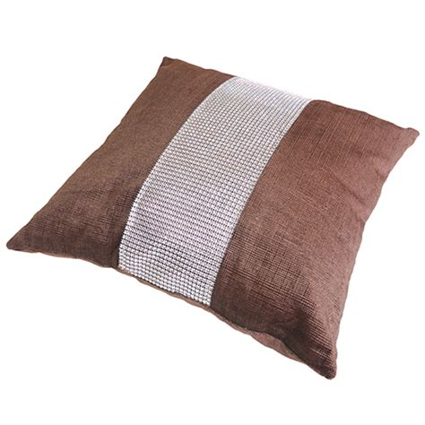 Cushions For Brown by Chenille Diamante Cushion Cover Brown Tonys Textiles
