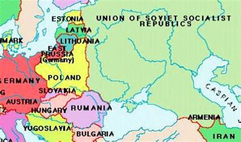 russia map before ww2 europe map prior to wwii