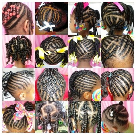 braid hairstyles for black women with a little gray little girl braided hairstyles