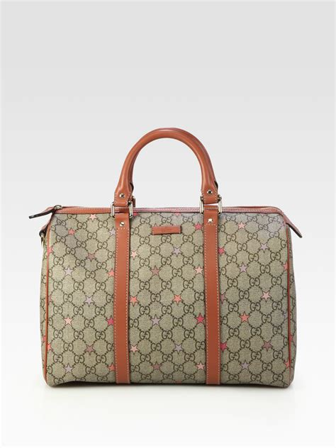 gucci gg supreme canvas boston bag in lyst