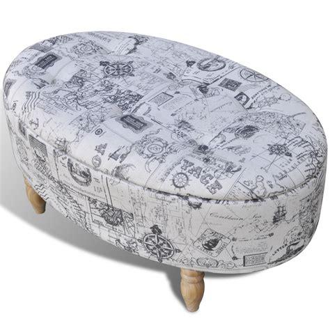 patterned ottomans stool footrest ottoman storage seat patterned oval 99 x 60