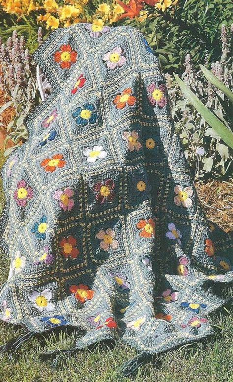 field of flowers crochet rug pattern easy beginner crocheting crochet pattern field of flowers afghan blan