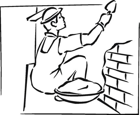 construction worker free coloring pages