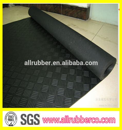 elongation 300 checker rubber sheet anti slip rubber mat