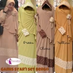 Bergo Combi by Baju Gamis Kerudung Bergo Renda Koleksi Busana Muslimah