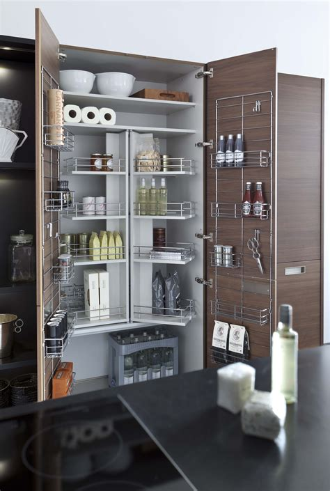 Modern Kitchen Storage Ideas by 900mm Larders Lens Portfolio Leicht Contracts