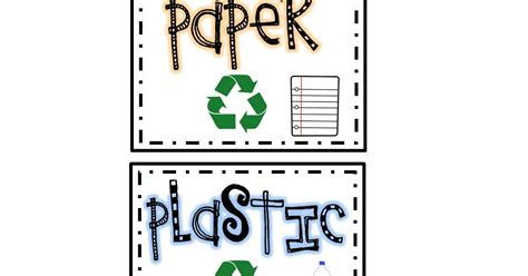 printable recycle label first grade with a cherry on top recycling labels freebie