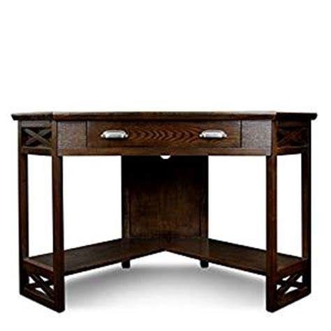chocolate brown computer desk amazon com overbey corner computer desk with drop
