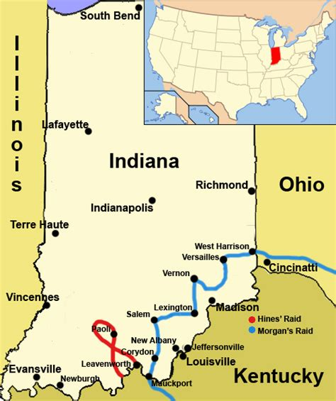 Indiana Civil Search File Indiana Civil War Map Jpg Wikimedia Commons