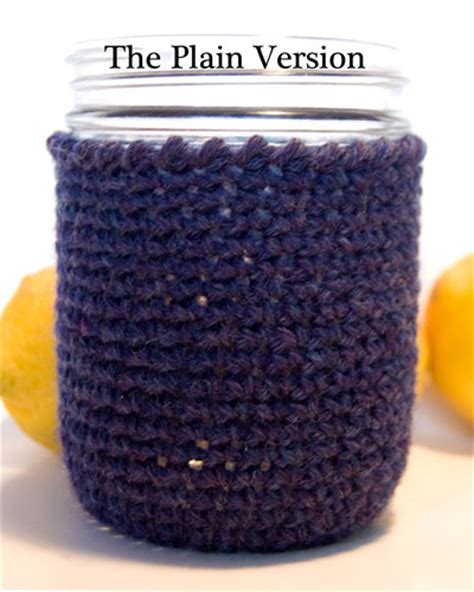 crochet pattern jar cozy free pattern wide mouth canning jar cozy two versions